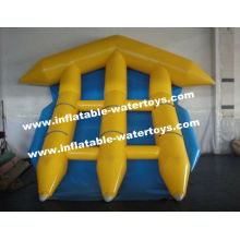 Aqua Play Equipment 0.9mm Pvc Tarpaulin Inflatable Fly Fish Banana Boat For 6 People