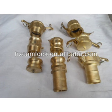 Brass camlock male threaded coupling with customizing