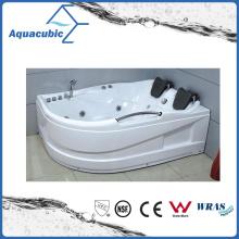 Corner ABS Board Whirlpool Massage Bathtub in White (AB0807)