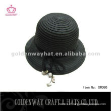 Chapeau de paille aux femmes populaires GW060