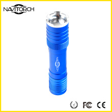 Aluminum Zoomable Rechargeable CREE LED Flashlight (NK-1862)