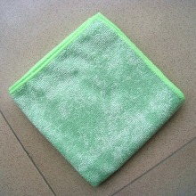 Kitchen Cleaning Grid Microfiber Weft Knitting Towel