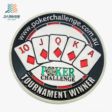 Wholesale Alloy Casting Enamel Poker Custom Challenge Coin for Promotion