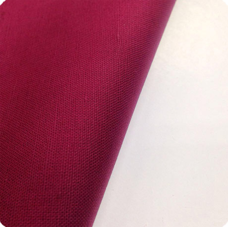 red cotton linen fabric