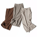 Autumn and winter's new 100%cashmere skirt of the length of a long skirt and elastic waist with high waist straight skirt