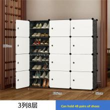 Prateleira de sapatos de plástico faça você mesmo para caixas de armazenamento de sapatos