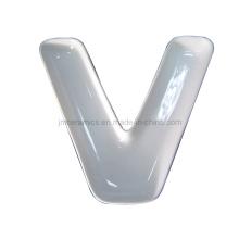 Placa de alfabeto v de porcelana (czjm4129)