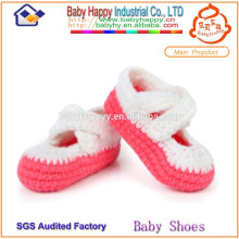 Wholesale handmade crib shoes simple model crochet baby shoes free