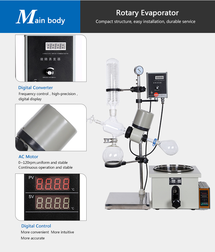 Ac Alcohol Distillation Benchtop Big Rotary Evaporators