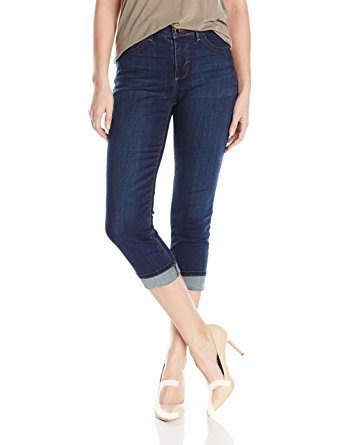 533wholesale Dark Blue Women S Organic Cotton Capris Jeans