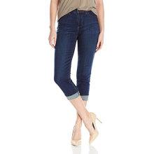 Calça Jeans Capris Algodão Orgânico Azul Escuro Feminino