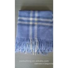 Châle carré en laine à carreaux de Mongolie intérieure