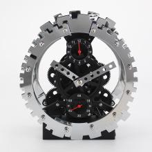 Sliver Alarm Gear Clock