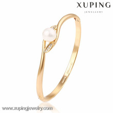 51212 Xuping Wholesale charms gold peal bangle for ladies