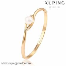 51212 Xuping Atacado encantos pulseira de repique de ouro para senhoras
