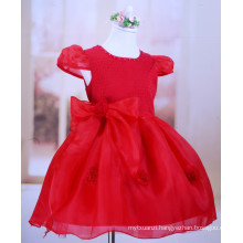baby girls birthday party dress/wedding dress for kids/red and white
