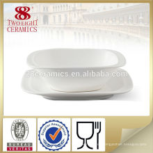 Plain White Porzellan Suppe Schüssel Set, Keramik Schüssel Tablewares Neuheit Schüsseln