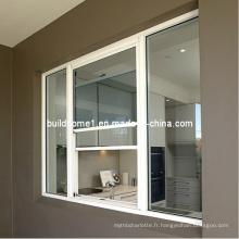 Fenêtre coulissante verticale en aluminium isolé