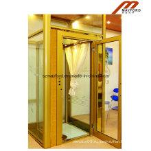 400кг стеклянная кабина лифта виллы с roomless машины