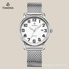Reloj pulsera de acero inoxidable de lujo, reloj de hombre de negocios 72168