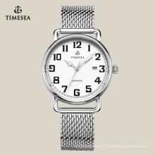 Relógio de aço inoxidável luxuoso do bracelete, relógio 72168 do negócio dos homens