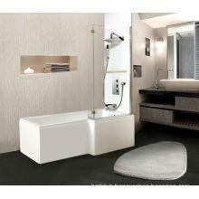 L shape high-quality cheap corner bathtub