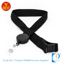 China High Quality Custom Black Woven Lanyard with Yo-Yo