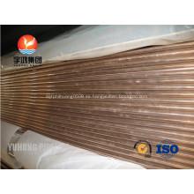 Níquel de cobre, tubos y tubos ASTM B111 C70600