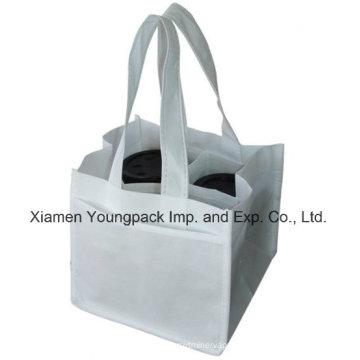 Eco-Friendly Reusable Non-Woven Cloth 4 Coffee Cups Carry Bag