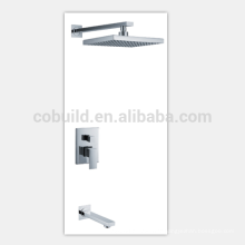 bathroom concealed exquisite square rain shower set faucet