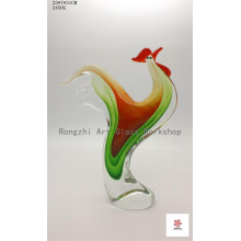 Wonderful Rooster Glass Sculpture