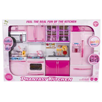 Электрические игрушки Pretend играть Toy Set Кухня Набор для девочек (H9632129)
