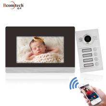 Bcomtech Smart TCP/IP SIP video intercom system 6 apartment door bell