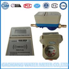 Medidor de agua prepagado de latón o plástico con impulso