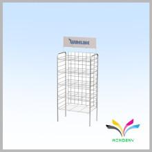 4 levels sturdy balck flooring detachable iron retail display stands racks
