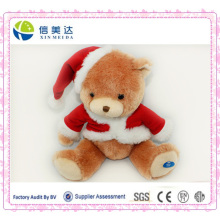 Customized Electronic Musical Singing Teddy Bear for Christmas