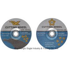 Rueda abrasiva de corte de resina Rueda cortante de corte, disco de corte