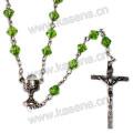 Diamante, forma, crucifixo, rosário, colar, virgem, mary, centerpiece