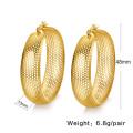 Mode Zubehör Billig hohlen groß Gold Hoop Ohrringe