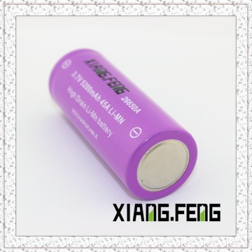 3.7V Xiangfeng 26650 5200mAh 45A Imr Rechargeable Lithium Battery Imr Battery