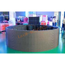 Commercial Advertising Cylindrical Led Display Board , 1r1g1b Smd Flexible Led Video Screen