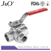3way Ball Valve with Direct Mounting Pad 1000wog