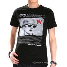 Trois couleurs Custom Fashion Screen Printing coton gros hommes T-shirt