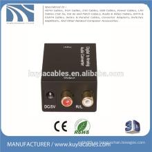 Convertidor digital a analógico de audio tv coaxial u óptico a R / L OR 3.5 2.1 amplificador Caja de interfaz