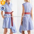 Vente chaude Asymétrique Sans Manches Ceinture Coton Été Quotidien Robe Fabrication En Gros Mode Femmes Vêtements (TA0001D)