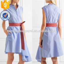 Hot Sale Asymmetric Sleeveless Belted Cotton Summer Daily Dress Manufacture Wholesale Fashion Women Apparel (TA0001D)