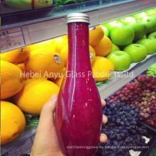 Botella de plástico de jugo de color con tapa de tornillo Bebida para mascotas botella de agua potable para embalaje de alimentos