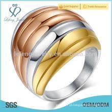 O anel de punk largo do aço inoxidável, mistura a jóia gótico das mulheres das cores
