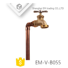 EM-V-B055 Forget brass bibcock tap with copper water pipe