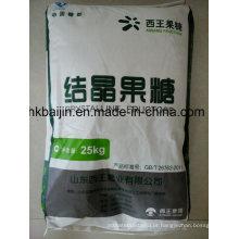 Frutose cristalina do produto comestível (C6H12O6)